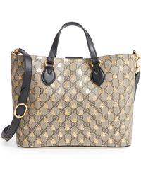 81265f975b6a Gucci Girls Gg Supreme Canvas Tote Bag in Green - Lyst