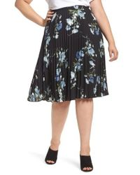 Vince Camuto | Windswept Bouquet Pleated Skirt | Lyst