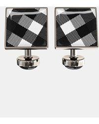 Würkin Stiffs - Check Square Cuff Links - Lyst