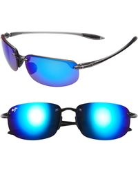 Maui Jim - 'ho'okipa - Polarizedplus2' 63mm Sunglasses - Smoke Grey/ Blue Hawaii - Lyst