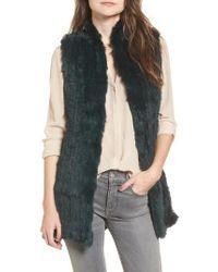 Love Token | Genuine Rabbit Fur & Knit Vest | Lyst