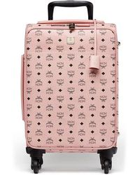 """MCM - Small Voyager Visetos 22"""" Trolley Wheeled Suitcase - - Lyst"""