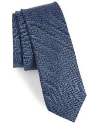 Ted Baker - Chevron Silk & Linen Tie - Lyst