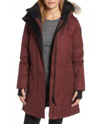Nobis | Hooded Down Parka With Genuine Coyote Fur Trim | Lyst