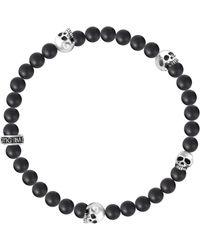 c2f102fed0403 Onyx & Skull Bead Bracelet