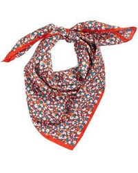 Tory Burch - Carnation Silk Square Scarf - Lyst