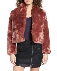Obey - Lana Faux Fur Coat - Lyst