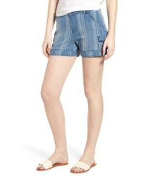 Wit & Wisdom - High Rise Striped Shorts - Lyst