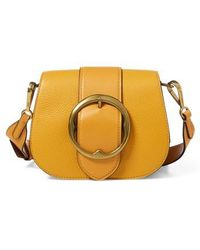 Polo Ralph Lauren - Lennox Leather Saddle Bag - Lyst