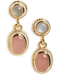 Anna Beck - Double Drop Pearl Earrings - Lyst