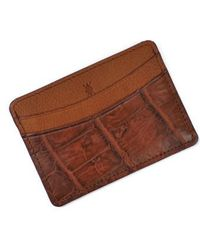 Martin Dingman | 'jameson' Matte Finish Genuine Alligator Leather Card Case | Lyst