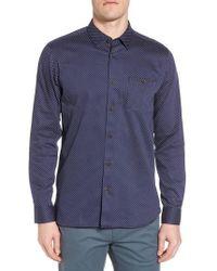 Ted Baker - Skwere Trim Fit Sport Shirt - Lyst