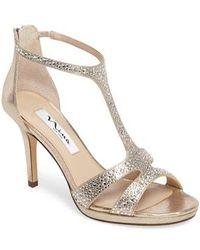 Nina - Brietta Embellished T-strap Sandal - Lyst
