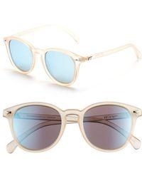 cefe972beaab28 Le Specs - Bandwagon 51mm Sunglasses - Raw Sugar  Ice Blue Mirror - Lyst