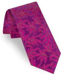 Ted Baker - Tonal Leaves Silk Tie - Lyst