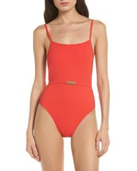 Diane von Furstenberg - Belted One-piece Swimsuit - Lyst