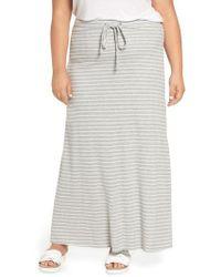 Caslon - Caslon Stripe Knit Maxi Skirt - Lyst