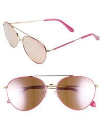Lilly Pulitzer - Lilly Pulitzer Isabelle 56mm Polarized Metal Aviator Sunglasses - Lyst