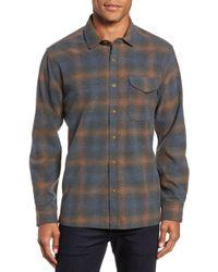 Jeremiah - Washburn Regular Fit Plaid Stretch Brushed Flannel Shirt - Lyst