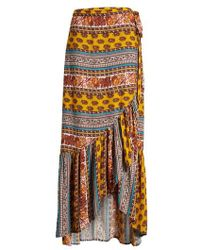 Band Of Gypsies - Geo Stripe Wrap Skirt - Lyst