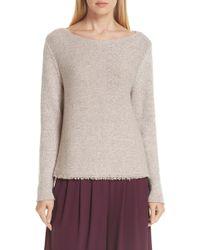 Eileen Fisher - Fringe Hem Sweater - Lyst