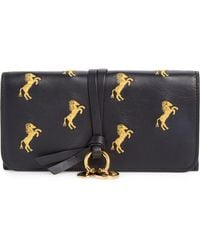 Chloé - Alphabet Horse Embroidered Leather Continental Wallet - Lyst