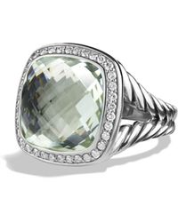 David Yurman - 'albion' Ring With Semiprecious Stone And Diamonds - Lyst
