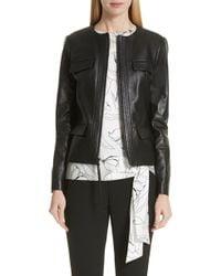 7c141e85 Balmain Embroidered Nappa Bolero Leather Jacket in Metallic - Lyst
