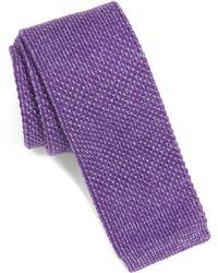 Nordstrom - Skinny Knit Cotton Tie - Lyst