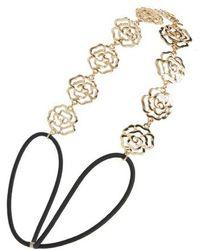 Tasha | Rose Metal Head Wrap | Lyst