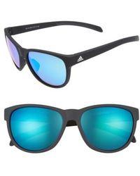 adidas - Wildcharge 57mm Mirrored Sunglasses - Lyst