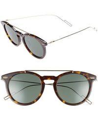 Dior Homme - Master 51mm Sunglasses - Havana Gold - Lyst