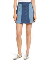 Rebecca Minkoff | Beatty Denim Miniskirt | Lyst