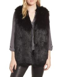 Sole Society - Faux Fur Vest - Lyst
