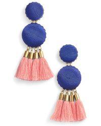 David Aubrey - Fabric Post Tassel Earrings - Lyst