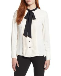 Anne Klein - New York Bow Blouse - Lyst
