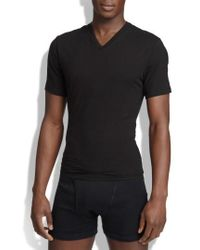 Spanx - Spanx V-neck Cotton Compression T-shirt - Lyst