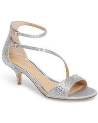 Badgley Mischka - Tangerine Crystal Embellished Sandal - Lyst