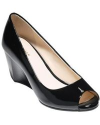 Cole Haan - Sadie Open Toe Wedge Pump - Lyst