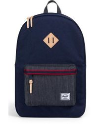 Herschel Supply Co. - Heritage Offset Denim Backpack - Lyst