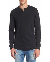 The Rail | Notch Neck Thermal T-shirt | Lyst