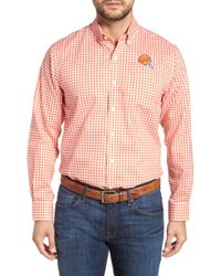 Cutter & Buck - League Cleveland Browns Regular Fit Shirt - Lyst