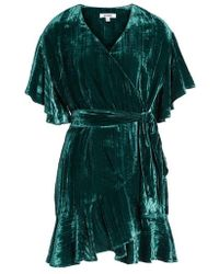 BB Dakota - Night Fever Velvet Wrap Dress - Lyst