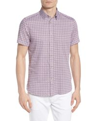 Ted Baker - Modmo Slim Fit Printed Cotton Shirt - Lyst