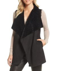 Cupcakes And Cashmere - Avalonia Faux Shearling Vest - Lyst