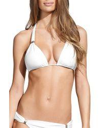 ViX - Vix White Bia Triangle Bikini Top - Lyst