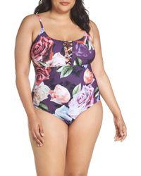 La Blanca - Cross Front One-piece Swimsuit - Lyst