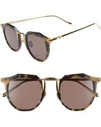 Valley Eyewear - Chateau 48mm Round Sunglasses - Lyst