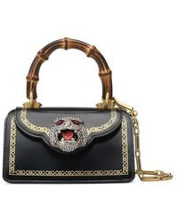 Gucci - Mini Gatto Top Handle Leather Satchel - Lyst