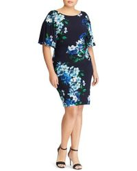 Lauren by Ralph Lauren - Jessup Tuxedo Floral Body-con Dress - Lyst
